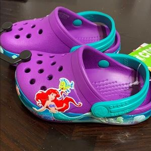 New Toddler The Little Mermaid Crocs